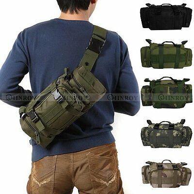 Outdoor Military Tactical Waist Pack Shoulder Bag Molle Camping Hiking Pouch Bag