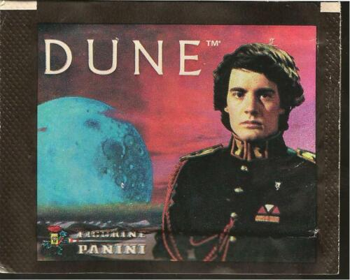 FIGURINE PANINI PACKET AND UNUSED DUNE STICKERS DINO DE LAURENTIS STING 1984