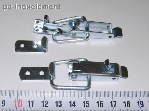 40 mm 10 Caisses de fermeture avec ressort sauvegarde Galvanisé Nietloch Ø 3,4 mm Longueur