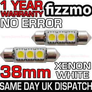 2x-38mm-3-SMD-LED-239-272-C5W-CANBUS-NO-ERROR-WHITE-INTERIOR-LIGHT-FESTOON-BULB
