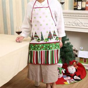 Details About Merry Christmas Womens Kitchen Aprons Novelty Childrens Girls  Waitress Apron G