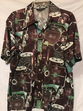Vintage 70's XL Donegal Polyester Disco Shirt Ford Model T
