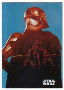 2015 Star Wars Viaje A La Fuerza despierta Silueta De Aluminio 7 Capitán phasma
