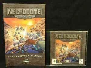 Necrodome-Vintage-PC-CD-ROM-1996-Game-Manual-Mint-Disc-1-Owner