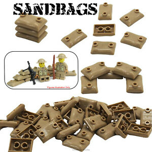 Sandbags Military Army Soldier WW2 Custom Building Blocks fits Lego Minifigers