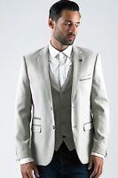 Mens Marc Darcy Designer Stone Cream Blazer Tailored Slim Fit Jacket Size 34-52