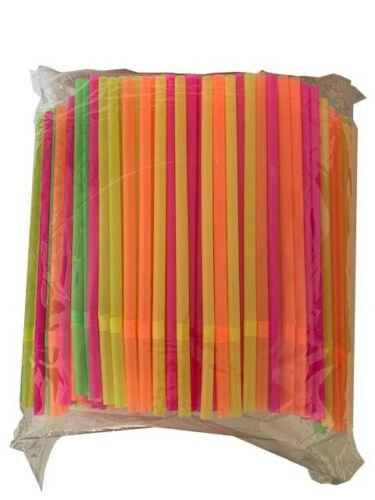 500 multicolor jumbo straw
