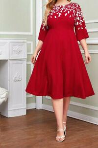 kleid alinie kleid cocktailkleid dress abendkleid eventkleid rot gr44  ebay