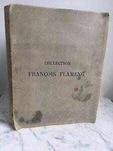 Catálogo De Venta Art Pizarras Antiguos Moderno Miniatura François Flameng 1919