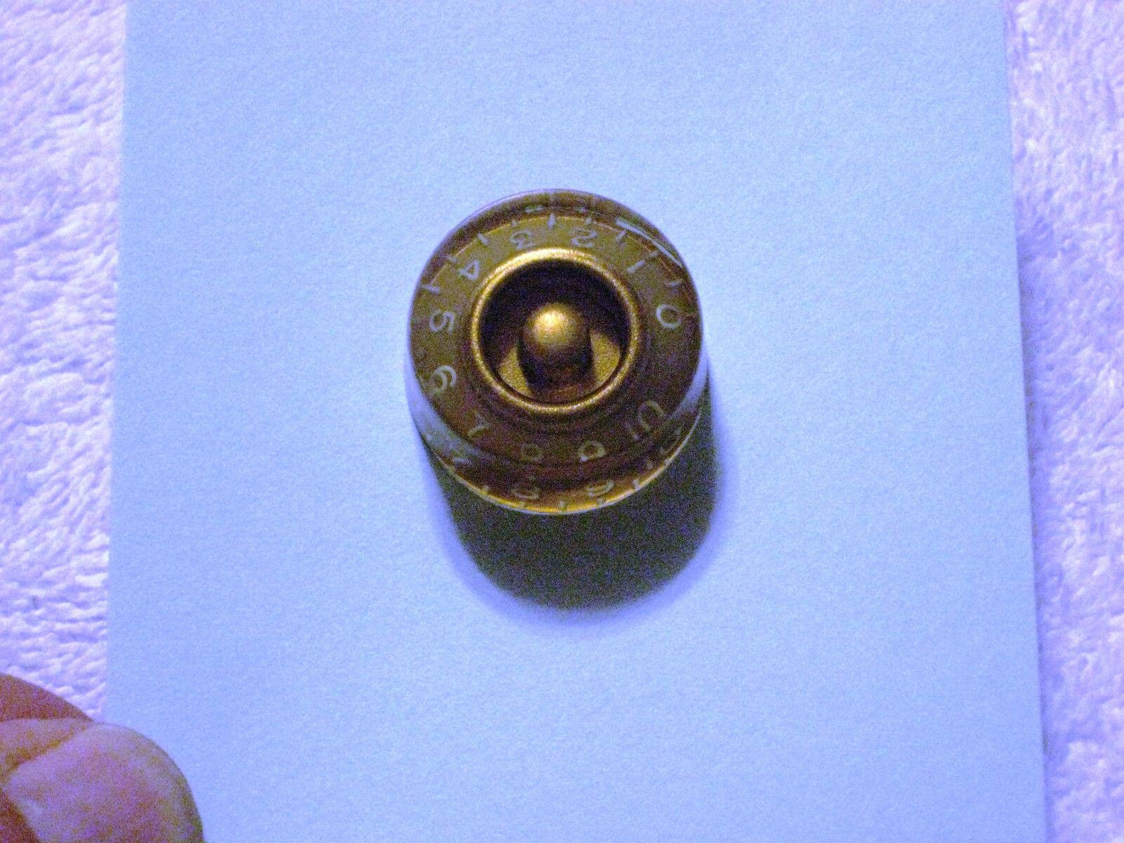 NOS 1960'S-1970's GIBSON Gold SPEED NOB KALAMAZOO FAKTORY 3 OF 3