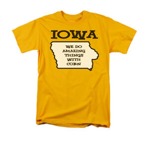 8f30e4dbf Iowa We Do Amazing Things With Corn Funny State Saying Adult T-Shirt ...