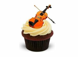 Cake Decorations Musical Instruments : VIOLIN 12 STAND UPS Edible Image Cake Toppers musical ...