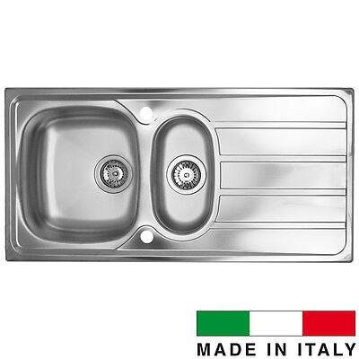 Universal CM 1.5 Bowl Satin Stainless Steel Kitchen Sink & Waste 1000x500