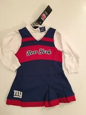 NFL New York Giants Girls Cheerleader Dress Outfit Set Size 12 24 Months 2T 3T