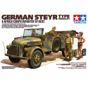 Tamiya-35305-German-Steyr-Type-1500A-01-amp-Africa-Corps-Infantry-At-Rest-1-35