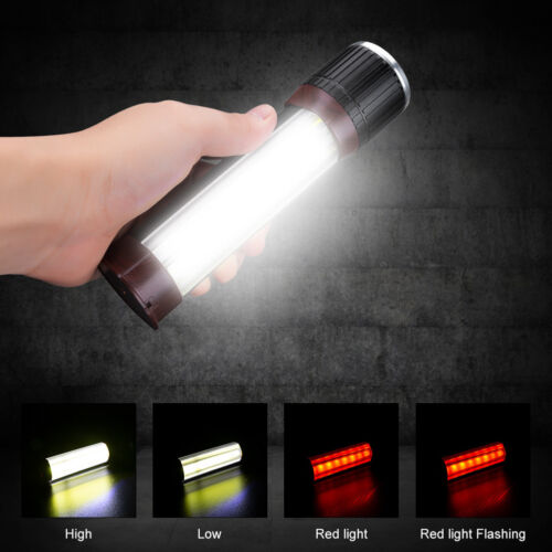 T6 COB Flashlight Zoomable LED Torch USB Rechargeable Light Flash Lamp 7-modes