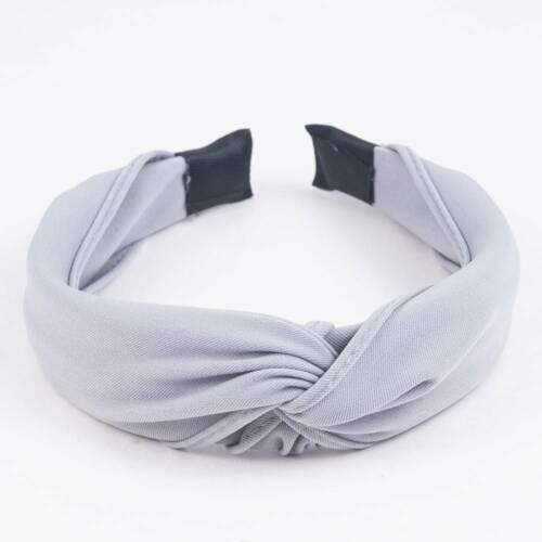 Women Cloth Wide Hairband Twist Bow Knot Cross Headband Girl Hair Band Headwear