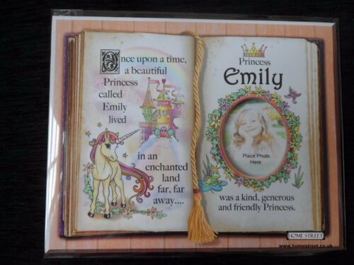 Emily Princess Unicorn Mount Gift With Verse And Photo Space Choose A Frame