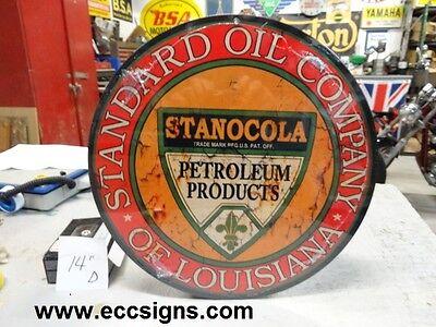 "Stanocola  Standard Oil Louisiana 24/"" weathered"