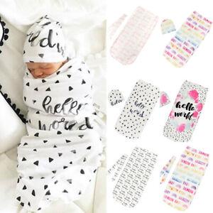 2Pcs-Set-Newborn-Swaddle-Blanket-Baby-Cocoon-Sleeping-Bag-Muslin-Wrap-Headband