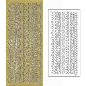 Konturensticker Herz-Linien silber Ziersticker Reliefsticker Peel Off/'s