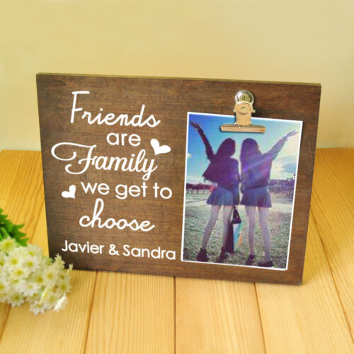 Personalized Photo Board with Clip Gift for Best Friends Custom Picture Frame