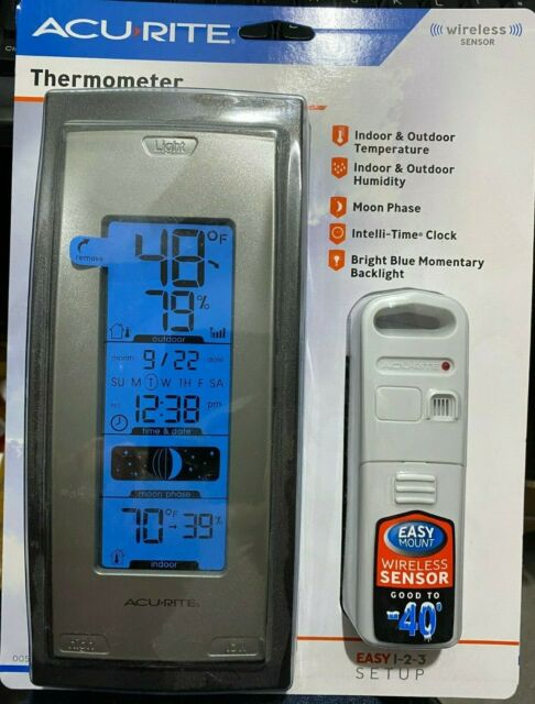 NEW AcuRite 00592A4 Wireless Indoor/Outdoor Thermometer with Humidity Sensor NIB