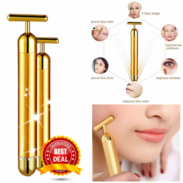 New 24K Energy Gold Beauty Bar Anti Aging Women Massager..