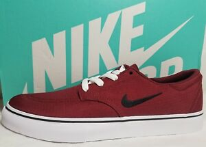 2e1085f19125b New Nike SB Clutch Canvas Skate Men s 10.5   8 Red Black White Shoe ...