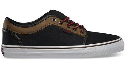 Vans Chukka Low (Leather) Black/Brown Men's Skate Shoes SIZE 12