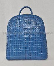 NWT Brahmin Rosemary Backpack Surf La Scala Embossed Leather. Blue