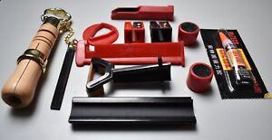 Billard-Zubehoer-Queue-Reparaturset-034-Premium-034-Kleber-Klemme-Trimmer-Tool-Set