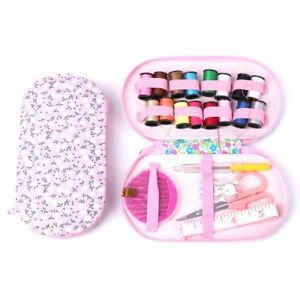 Portable-Travel-Sewing-Kit-Box-Needle-Threads-Scissor-Home-DIY-Handwork-Tool