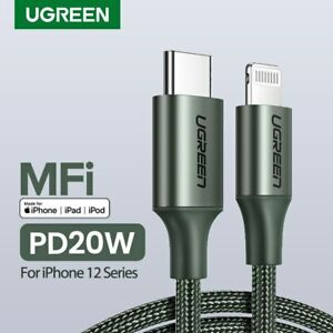 Ugreen MFi USB C to Lightning iPhone Charger Cable 18W PD Fast Charge Fr Macbook