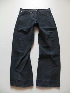 Levi-039-s-049-Engineered-Jeans-Hose-W-34-L-34-Schwarz-twistet-Denim-RARITAT