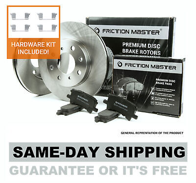 With Two Years Manufacturer Warranty Brake Pads Include Hardware Rear Disc Brake Rotors and Ceramic Brake Pads for 2013 Chevrolet Traverse