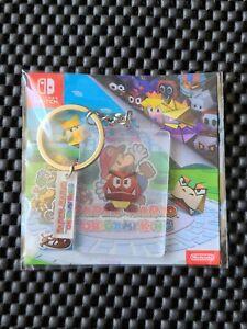 Nintendo Paper Mario Origami King France pre order bonus GOOMBA Keychain Rare
