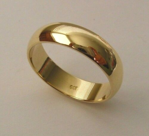 5 mm GENUINE 9K 9ct SOLID GOLD WEDDING BAND RING Size N7 to Z+214