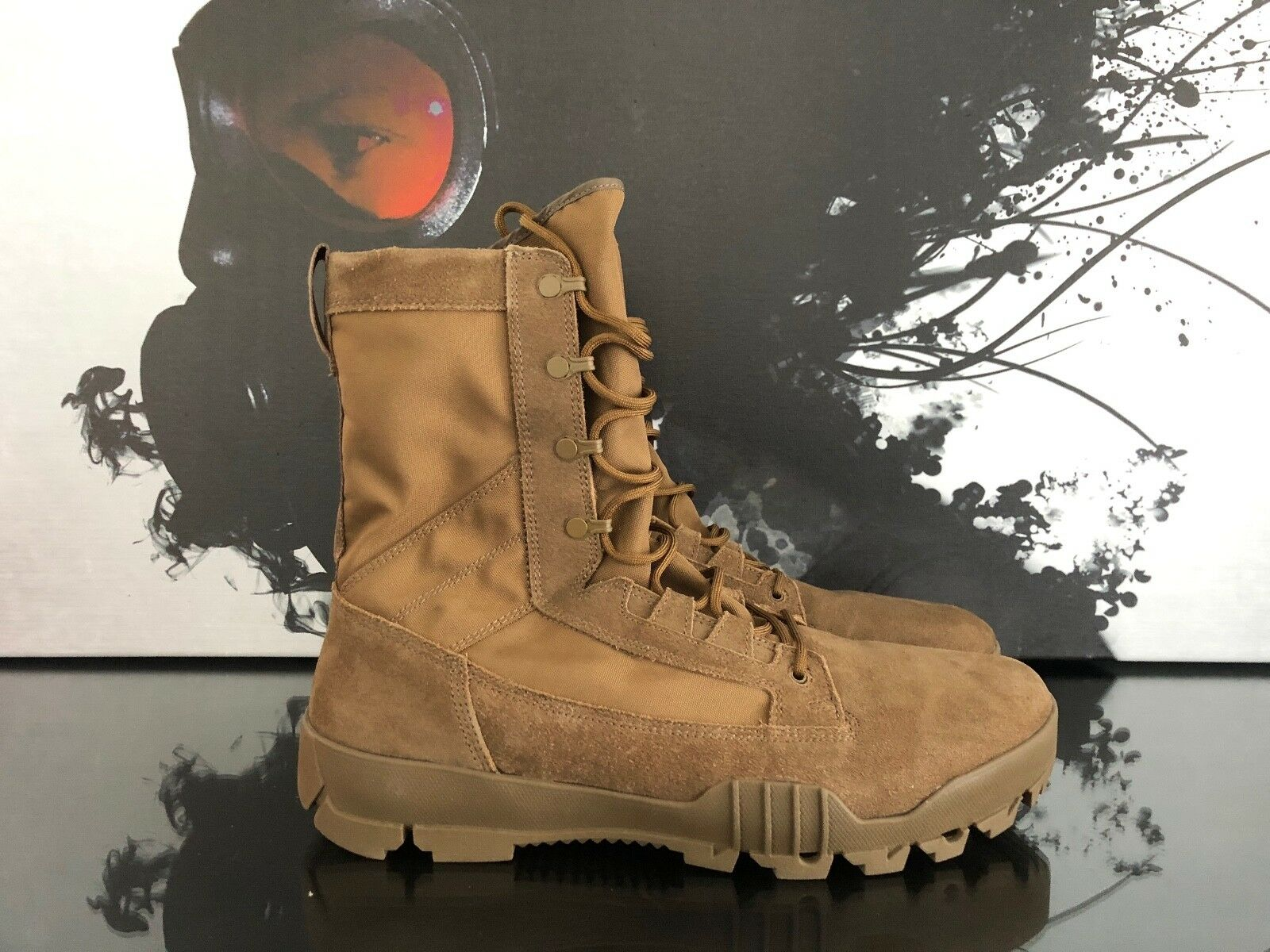 MENS NIKE SFB JUNGLE 8  LEATHER FIELD BOOTS  180   SIZE 15   828654 900