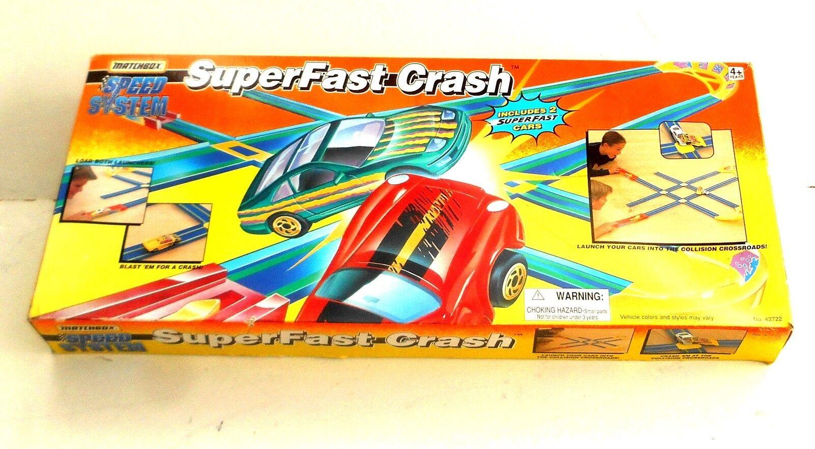 VINTAGE 1996 MATCHBOX Lesney Superfast  superveloce Crash-Speed System  in Scatola