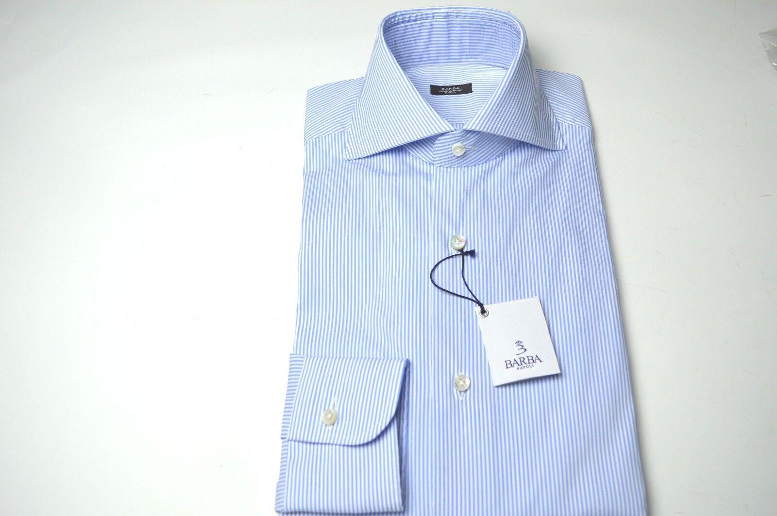 NEW BARBA  Dress SHIRT  100% Cotton Größe 17  Us 43 Eu  (BA10)
