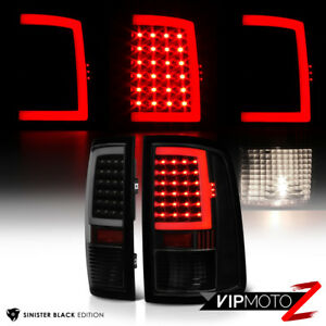2009-2018-Dodge-Ram-1500-2500-3500-034-FiBer-OptiC-034-Sinister-Black-LED-Tail-Lights