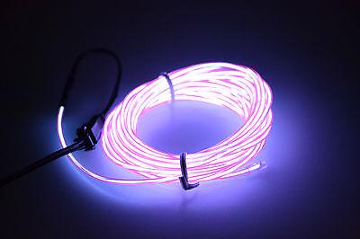 1/2/3/4/5M Flexible Led EL Tube Wire Neon Glow Decor Light +3V/12V controller