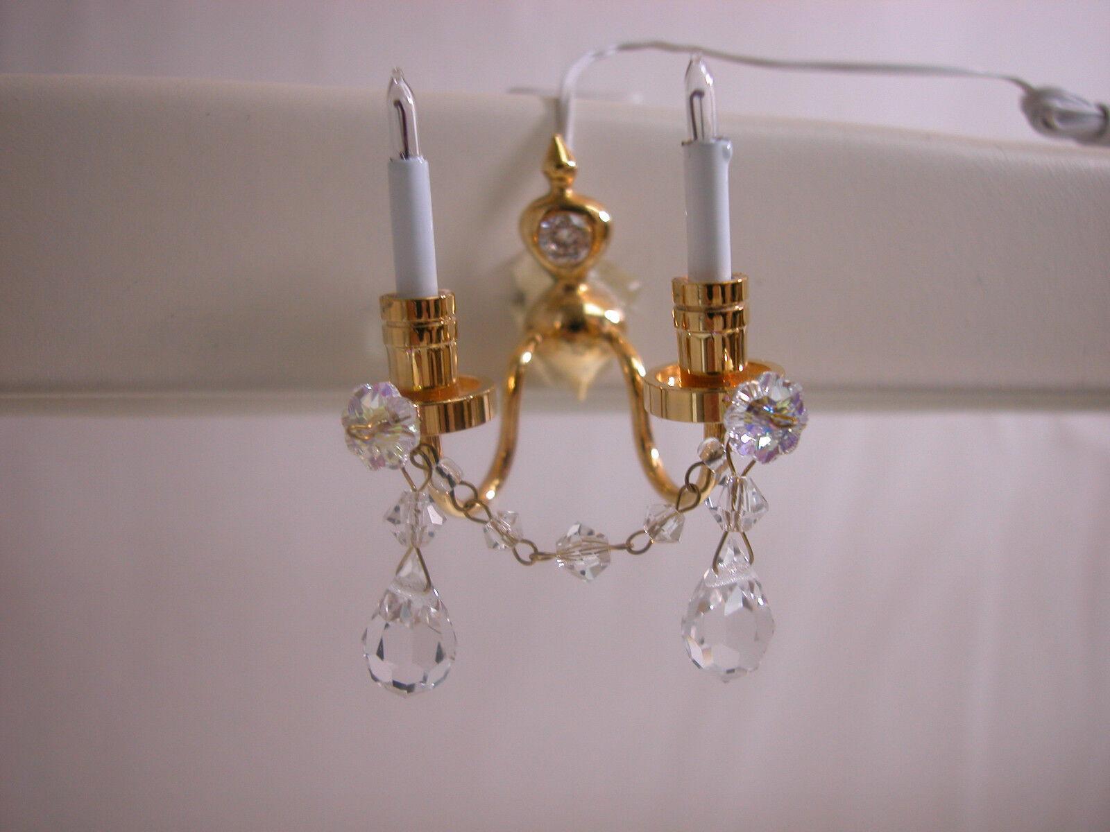 Heidi Ott Dollhouse Miniature Light 1:12 Scale Crystal  Wall Lamp  YL7003 XMAS