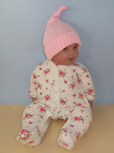 Image is loading KNITTING-PATTERN-INSTRUCTIONS-BABY-TOPKNOT-PIXIE-HAT- KNITTING- f102401d438