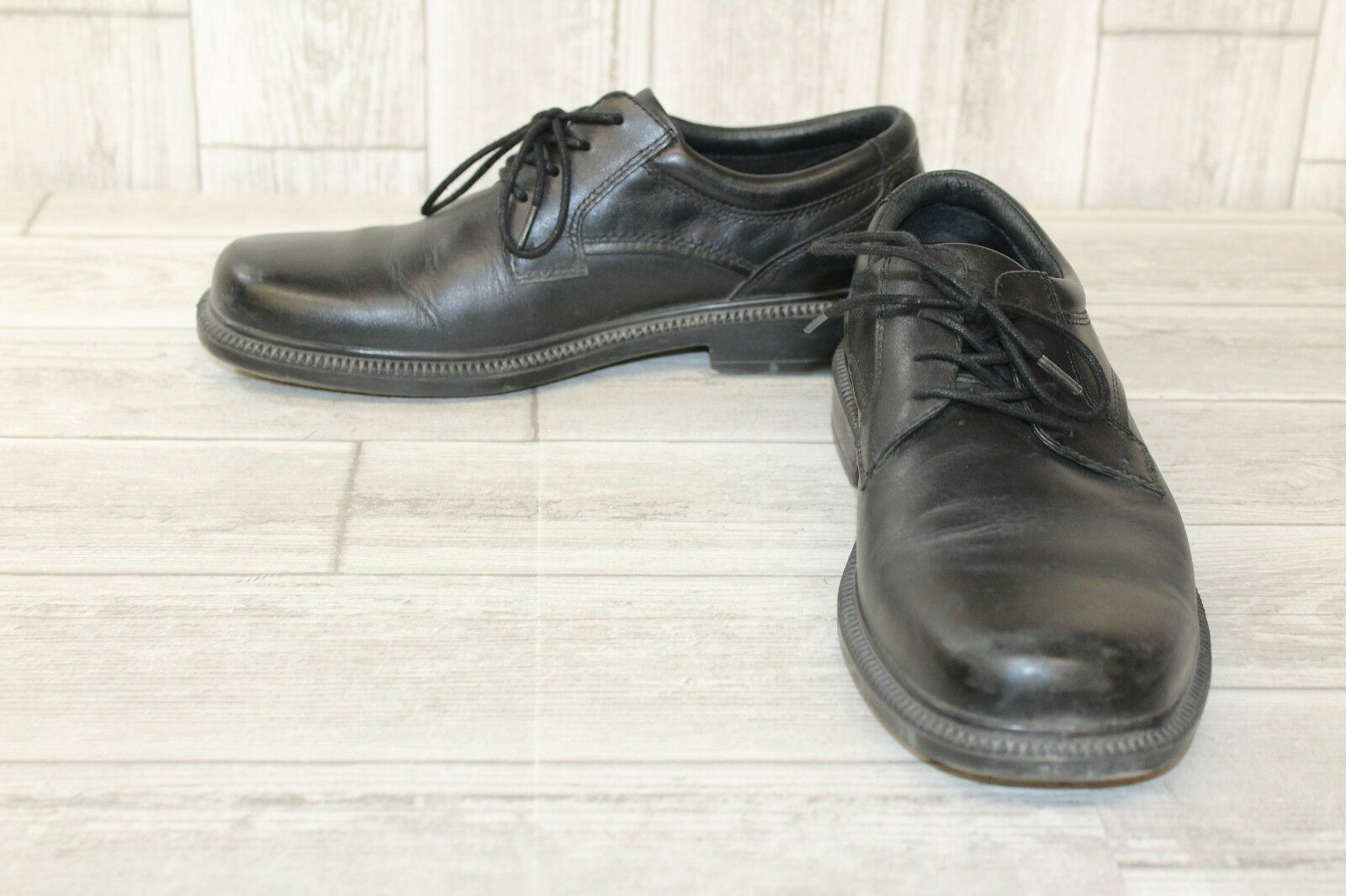 Hush Puppies Strategy Casual Shoes- Mens Size 8- Black- Pre Owned