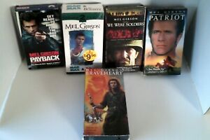 MEL-GIBSON-6-PACK-VHS-TAPE-MOVIE-LOT-RARE-OOP-HTF