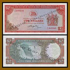 Rhodesia 2 Dollars, 1977 P-35b Unc