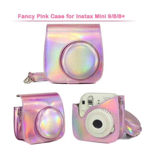 Bolsa de Cuero PU Estuche Cubierta Con Correa para el hombro para Fujifilm Instax Mini 9 Mini 8+