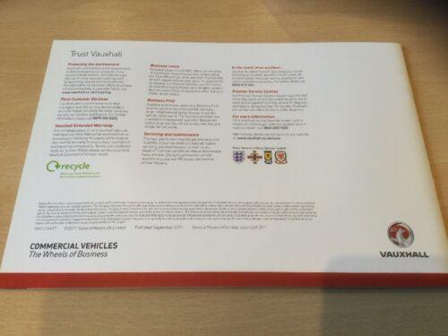 Ed 1 32 Pages Vauxhall AstraVan Astra Van Brochure 2012 Models VM1109457
